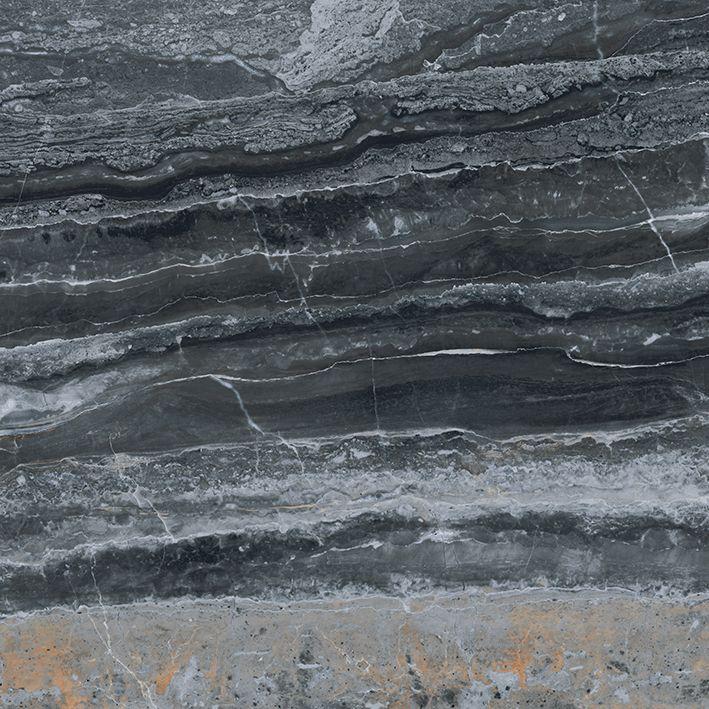 Плитка из керамогранита лаппатированная Vitra Bergamo 60X60 черный (K946615LPR01VTE0)