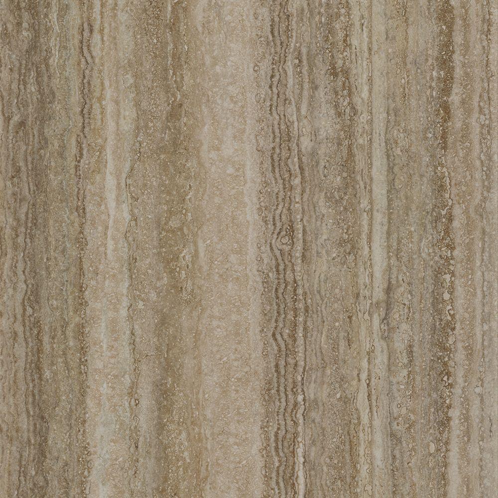 Плитка из керамогранита глянцевая Italon Травертино 59х59 коричневый (610015000214)