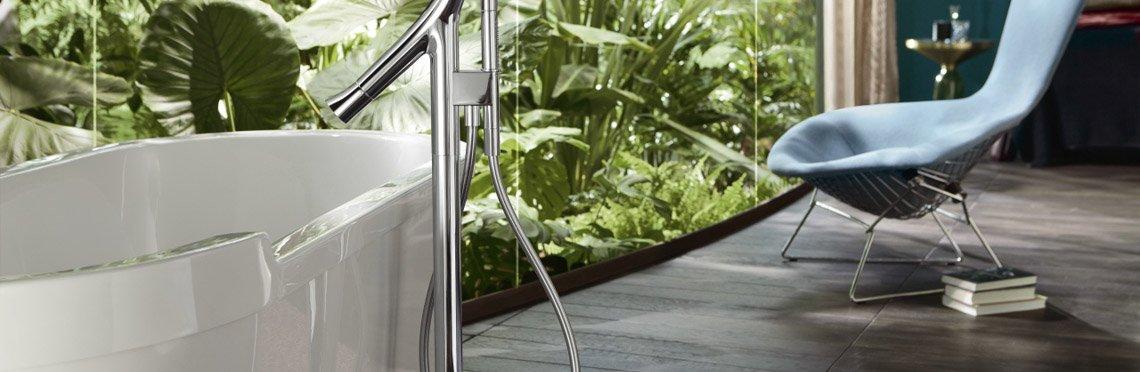 Установка смесителя для ванны фото 8