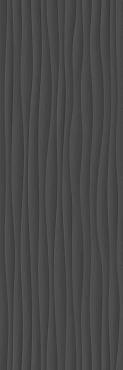 Плитка Eclettica Anthracite Struttura Wave 3D 40x120