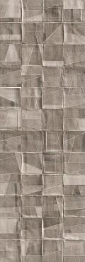Плитка Nerina Slash рельеф серый 29x89