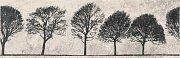 Вставка Willow Sky деревья светло-серый 29x89