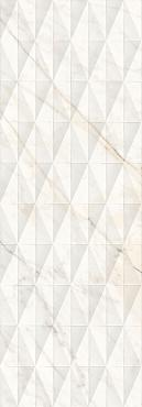 Плитка Allmarble Wall Golden White Struttura Pave Lux 3D 40х120