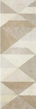 Декор Evolutionmarble Riv Decoro Tangram Golden Cream 32,5х97,7